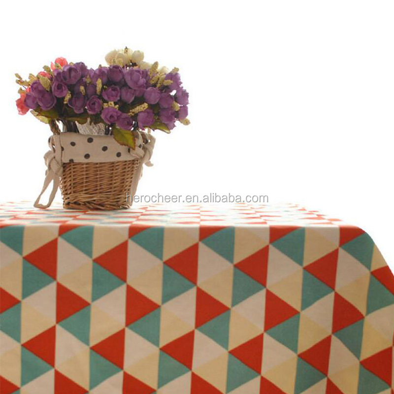 New Cotton & Linen Home Table Covers Colorful Plaid Printed Tablecloth Dustproof Party Wedding Table Cloth High Quality