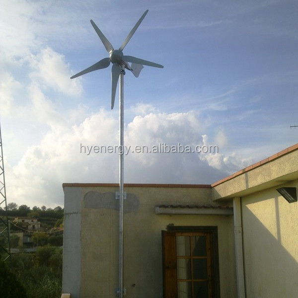1500W wind turbine generator home use