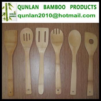 With or Without Package Bamboo Cooking Fork And Spoon