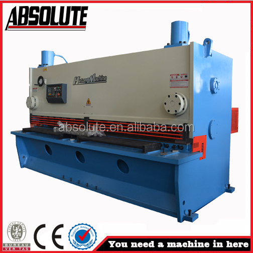 Guillotine shearing machine for sheet metal cutting with CE certificate