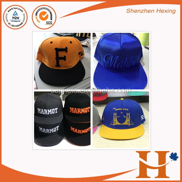 Custom Flat Round Brim 3D Embroidery Snapback Cap/Hat Wholesale
