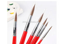 chinese products wholesale name oil painting brushes Profession natural horse hair artist painting brush