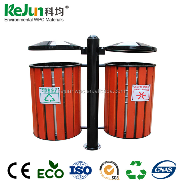 Cheap price Outdoor WPC Environmental Dustbin/Eco-Friendly Outdoor Wood Rubbish Bin