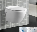 Slim UF Seat Cover Rimless SMALL Wall Hung Toilet