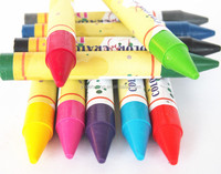 Wholesale 12colors Non-Toxic Painting Wax Crayons For Kids