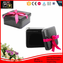 fine quality elegant Mirror Closure Handle Fancy PU leather case for cosmetic