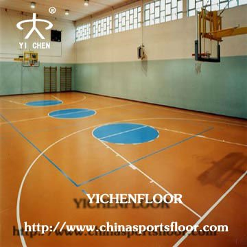 Volleyball/size futsal court/Tennis/Basketball/vinyl plastic floor for sports use