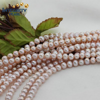 popular 7-8MM AA+ short potato natural freshwater purple pearl strand