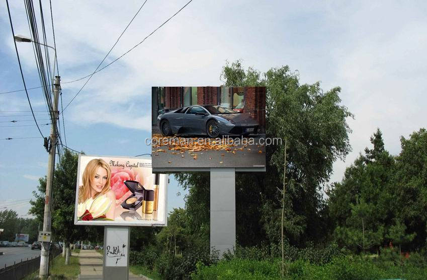 p6 p8 big outdoor led display screen / new stationery video curtain ads p25/p20 outdoor full color led mobile signs