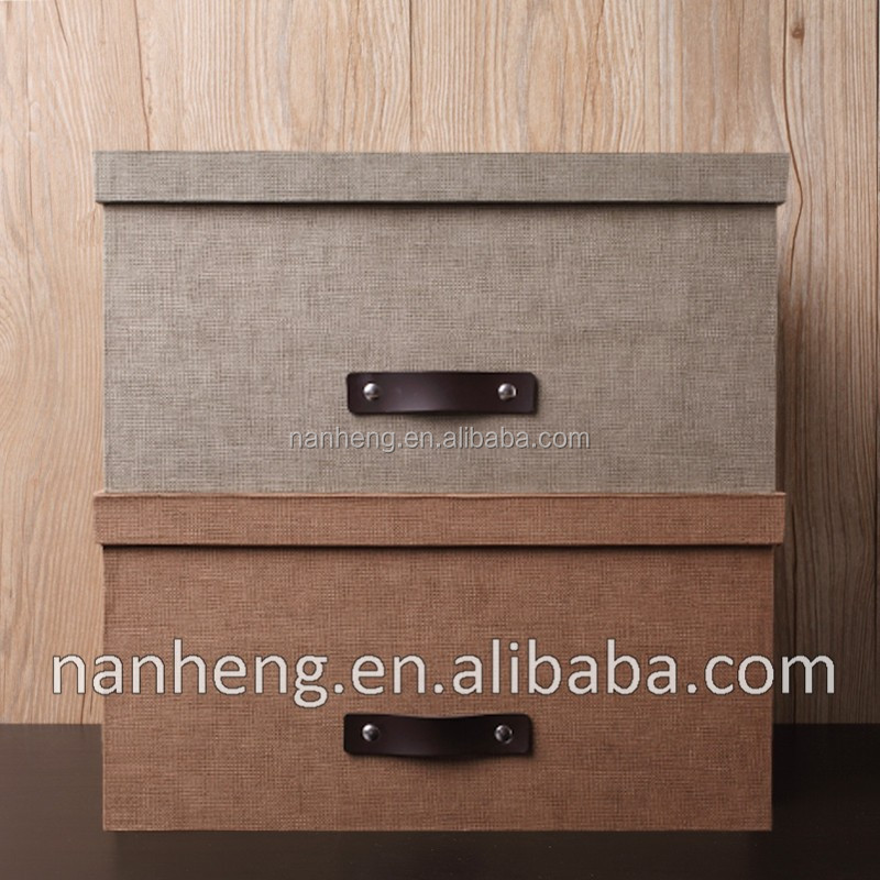 NAHAM Retro Linen Cardboard Storage Box/ Decorative Storage Box