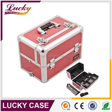 Wholesale Pink Display Aluminum Beauty Kit Case