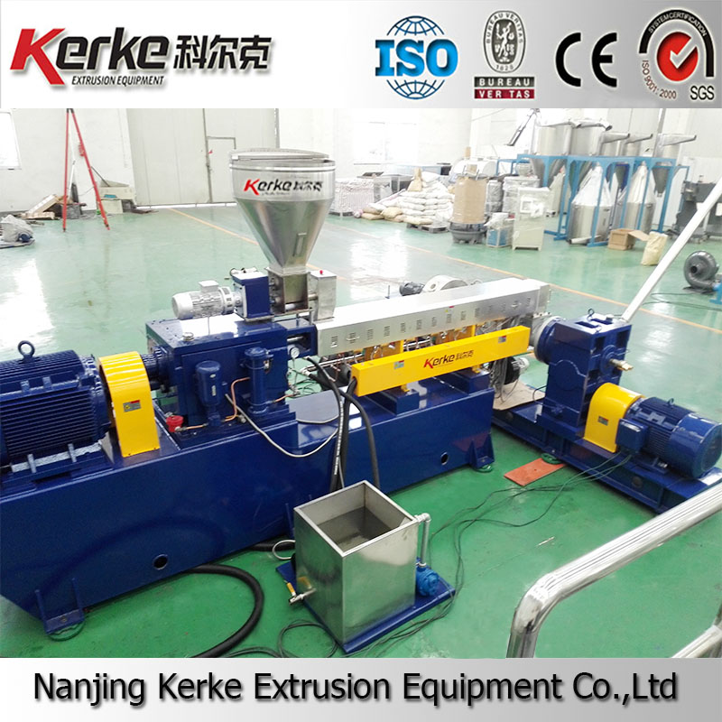 Two stage compounding extruder to making PVC granules