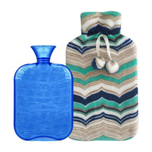 British standard 2L large hot water bags with plush cover