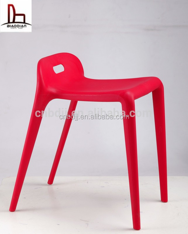Cheap stackable horse dining chair pony stool plastic stool guitar stool