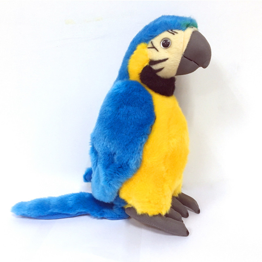 Custom 10 Inch Yellow Tropical Parrot Plush-Pet Bird Stuffed Animal