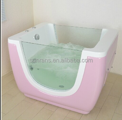 hot sale freestanding side glass bathtub for standing baby. Black Bedroom Furniture Sets. Home Design Ideas