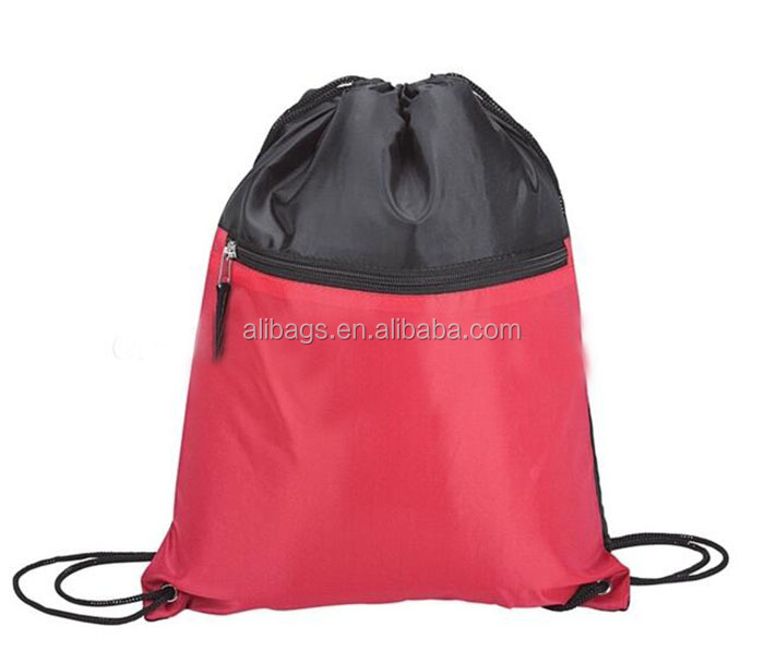 Promotional Logo Printed Cheap Polyester Drawstring Bag