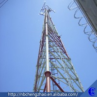 Professional design China antenna guyed mast steel tower