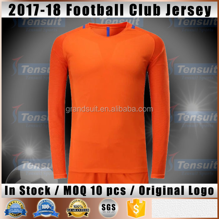 Quality good child football uniforms on sale design football team jersey orginal thai quality training goalkeeper soccer suits