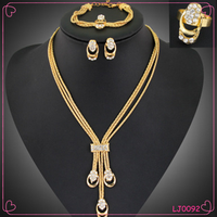 New Fashion Ladies Gold Multilayer Tassel Long Chain Necklace Set