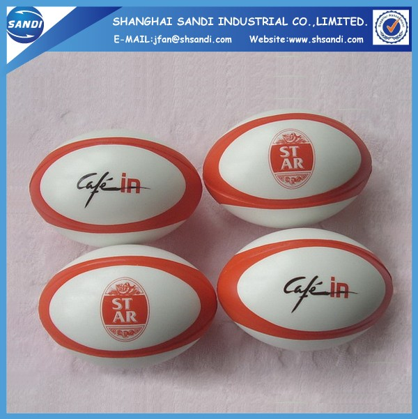 promotional custom rugby pu foam anti stress ball