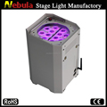 12*3W wireless led Battery backup Powered lighting for christmas