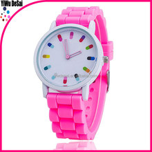 High Quality Fashion Brand Soft Silicone Strap Jelly Quartz Watch Wristwatches for Women Ladies Lovers colors