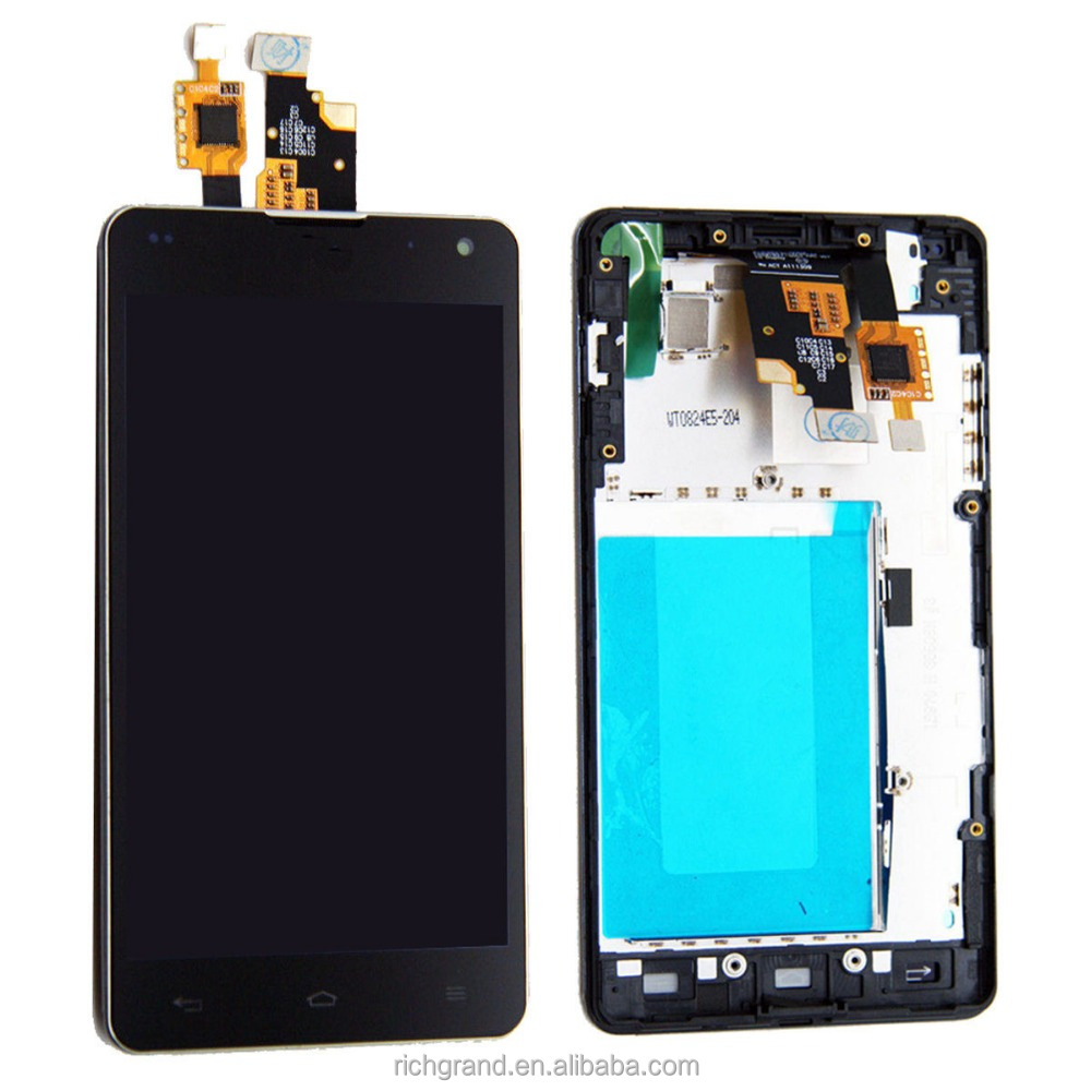 LCD Display Touch Screen Digitizer with Frame Assembly for LG Optimus G E975 E973