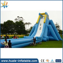 2017 China hot sale outdoor commercial giant inflatable water slide for adult with pool