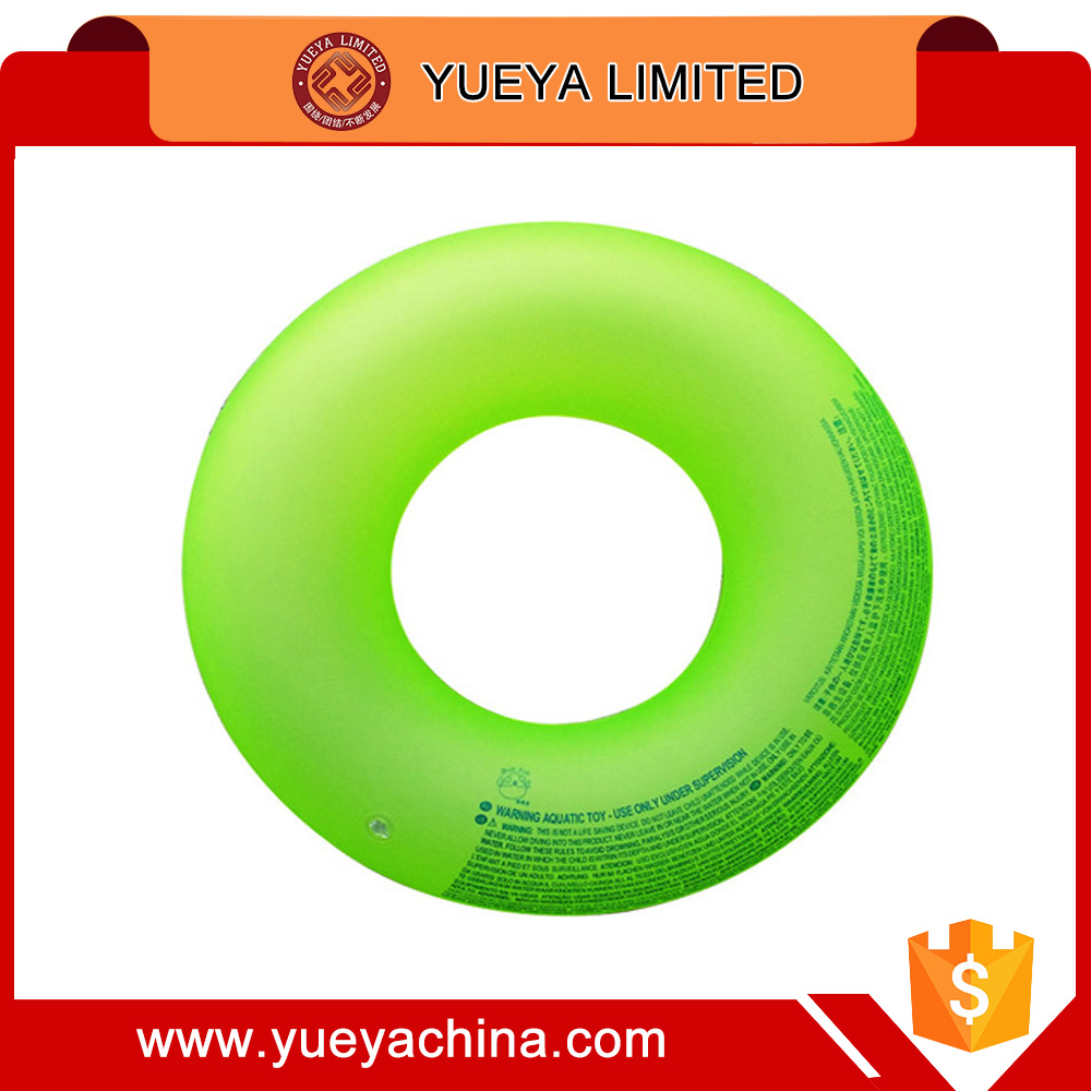 Adult Inflatable swim ring with light and handle --green 81cm 36#