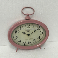 Vintage Decorative Home Metal Table Clock
