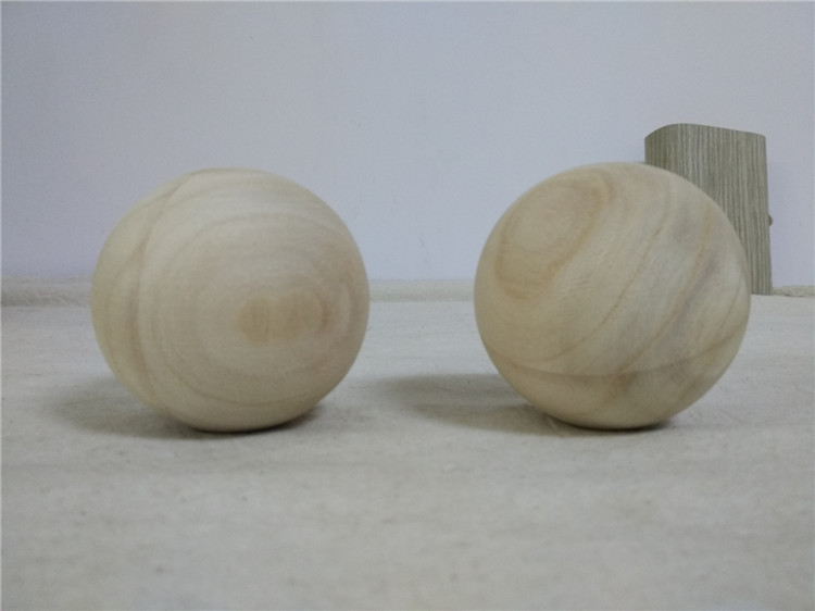 76mm Natural unfinished wood round balls