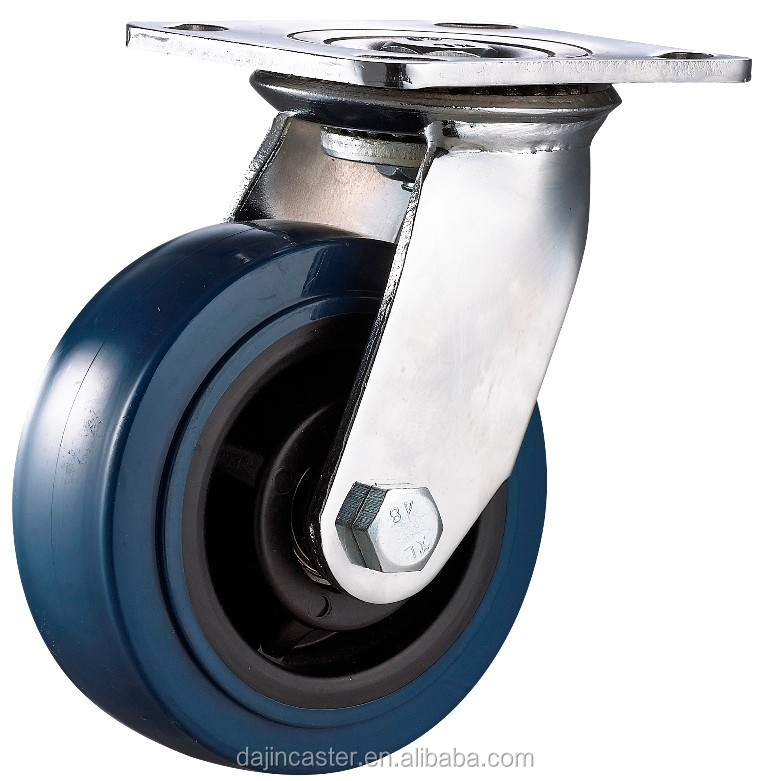 150 mm heavy duty swivel PU industrial caster wheels