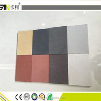waterproof colorful fiber cement board for exterior wall interior wall decorative