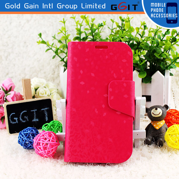 Hot Sale Concise Design Mobile Phone Stand Case For Samsung S4 I9500 Stand Flip Cover