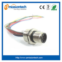 UL1007 cable assembly M12 connector