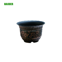 Classial iron plastic flower pots stand modern beautiful round shape pots