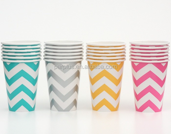 Disposable Paper Cups Chevron Coffee Cups