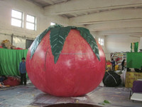 customized new style giant inflatable peach for advertising