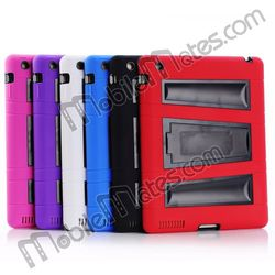 Shockproof Hybrid Silicone + PC Case for iPad 2 3 4 with Kickstand