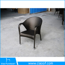 Synthetic garden stackable rattan chair furniture