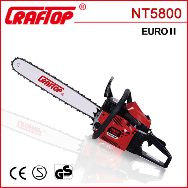 2 stroke 2.2kw 58cc new design chainsaw CE certified NT5800