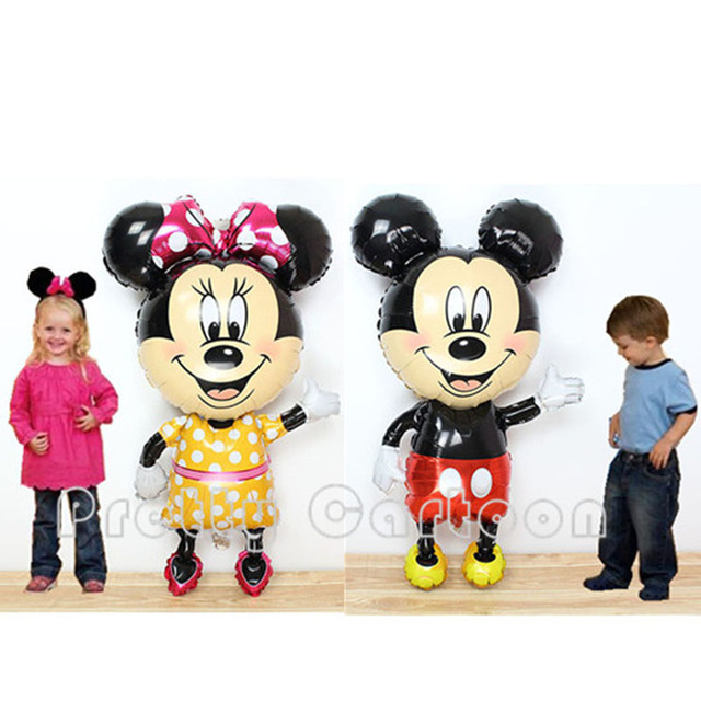 Large Minnie Mouse Airwalker Jumbo Foil Balloon Mickey Mouse Airwalker mylar balloon minnie mouse&mickey mouse party supplies