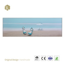 New Design Canvas Seaside Oil Painting Sealed New Model Material Overseas Home Decor