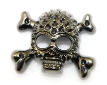 Bling bling rhinestone skull concho for cowboy/cowgirl's belt