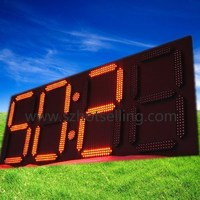 Digits LED Wall Clock Interval/Countdown/ Count up Clock/ Stopwatch/Digit/ / BTC-11121-S(1) Big LED Clock Waterproof for Outdoor