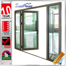 Unique AS2047 2 way swing door with tempered glass