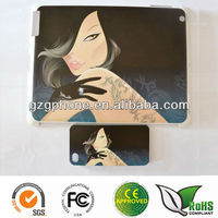 Hard back cover for ipad 2 with colorful printing