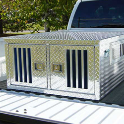 Aluminum Professional Steel Two Dog Kennel Manufacturers