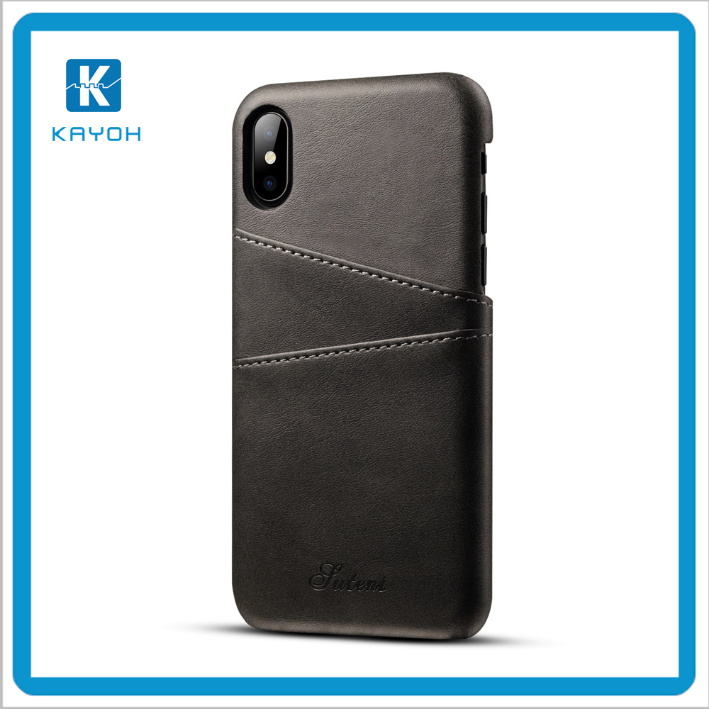 [KAYOH]High Quality for iphone x Leather Case Luxury Mobile Phone Cases Cover for iphone Wallet
